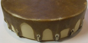 Deep Buffalo Sweat Lodge Drum Side