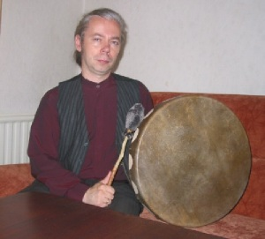 Shaman with Buffalo Drum in Lithuania