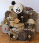 Tower of Drums, Rattles, and Drum Mallets